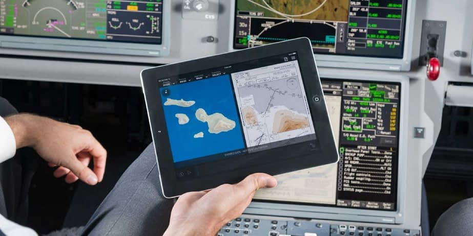 tablet application for pilots
